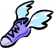 Winged shoes
