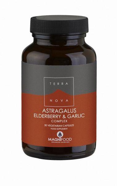 Astragalus, elderberry & garlic Complex 50 kaps Terranova (Vegan)