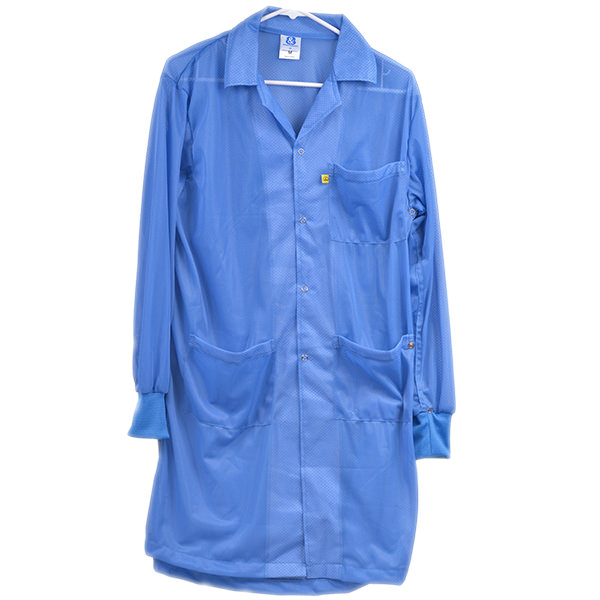 8812 Series Blue Knitted Cuff ESD Lab Coat