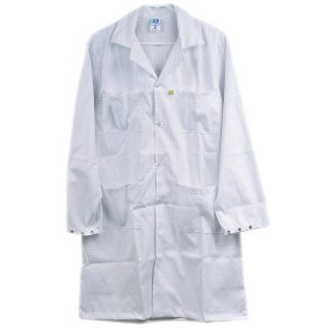 5049 Series White Snap Cuff ESD Lab Coat
