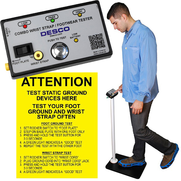 Desco™ Combo Tester with Stand