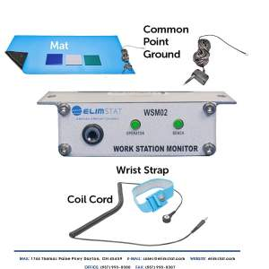 ESD Mat and Wrist Strap Continuous Monitor