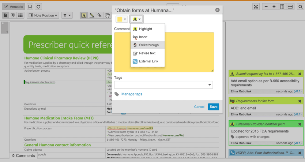 Vault Annotate tool - add note dialog