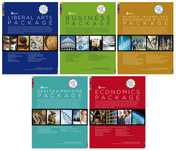 bepress journals bundle packages