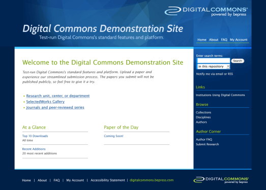 Digital Commons Demo Site Proposal