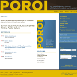 Poroi: An Interdisciplinary Journal of Rhetorical Analysis and Invention