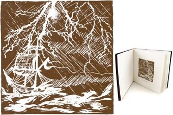 the tempest linocut illustration
