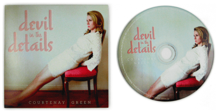 "Courtenay Green ""Devil In The Details"" album cover and CD"