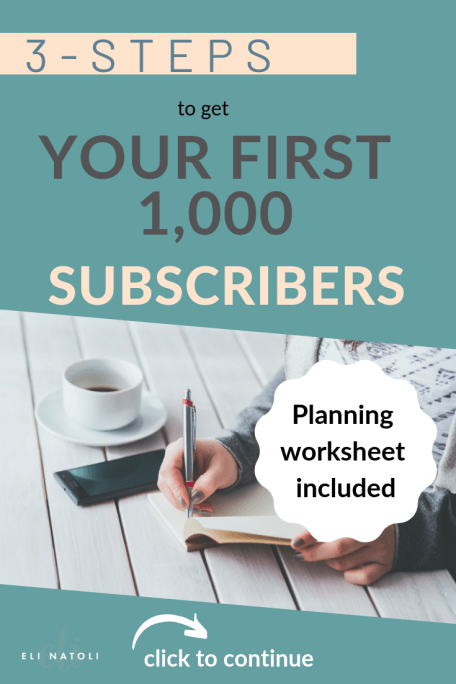 list building 101 to getting your first 1000 subscribers