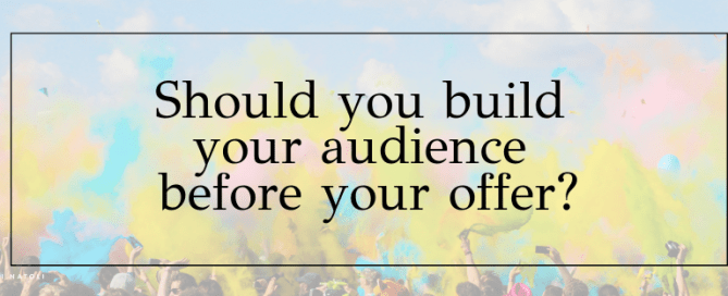 build your audience before you build your course