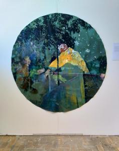 Vangen! Oil paint 2017Diameter 177 cm