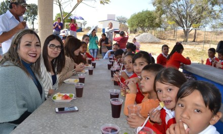Instalan dos comedores comunitarios en San Francisco, beneficia a 147 estudiantes
