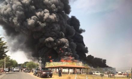 Se incendia fábrica en comunidad de Purísima