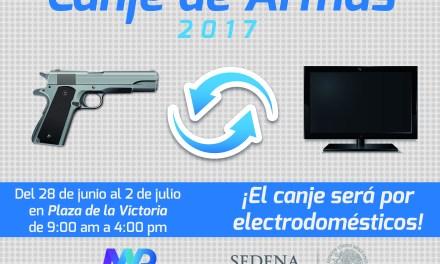Invitan a cambiar armas por aparatos electrónicos