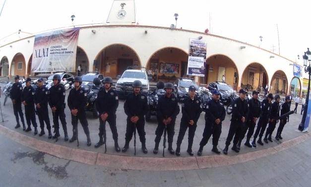 Reciben policías de Purísima vehículos nuevos
