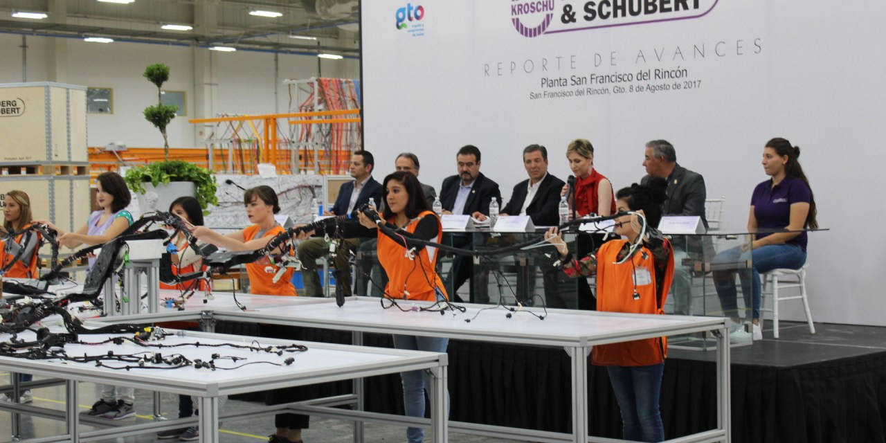 Presentan avances de empresa Kromberg & Schubert