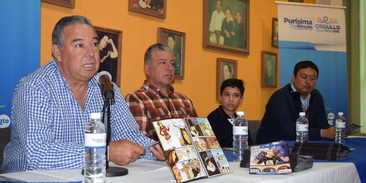 Presentan historia de Purísima en formato cómic