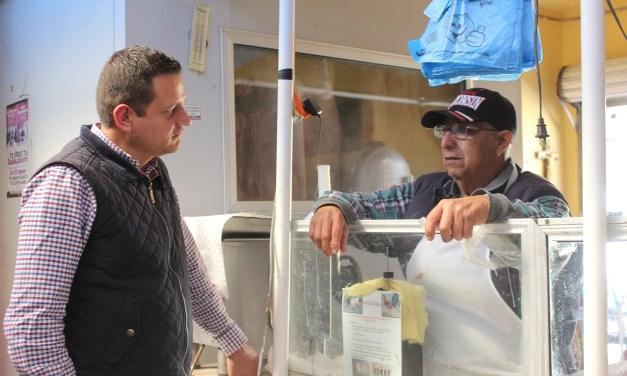 Supervisan avance de obra en mercado de Manuel Doblado