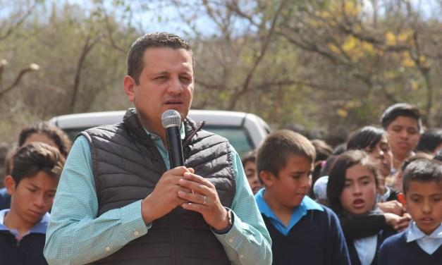Supervisan obras en comunidad de Manuel Doblado
