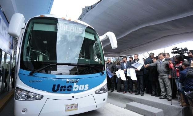 UNEBUS inicia operaciones en el estado, autoridades inauguran primer etapa