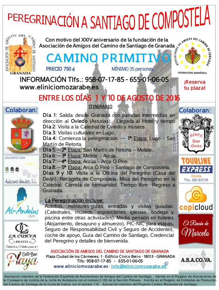 Cartel web Camino Primitivo 2016