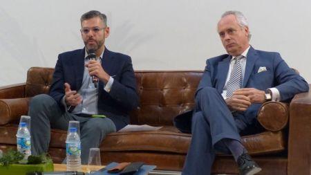 Fernando Encinar y Javier Zarrabeitia, en la conferencia del MIPIM en Madrid