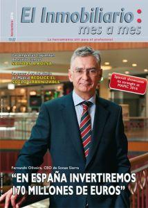 Revista El Inmobiliario mes a mes, número 155, noviembre 2016. Noticias del sector inmobiliario español.