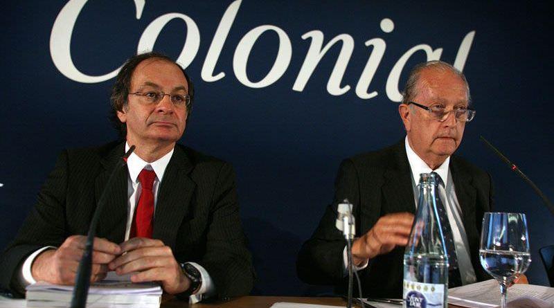 Pere Viñolas, consejero delegado de Colonial y su presidente, Juan José Bruguera