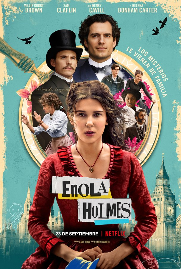 Enola Holmes Millie Bobby Brown poster