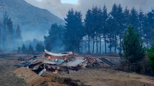 Incendios en la Patagonia