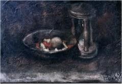 Natura morta con clessidra_35x45_olio su tela_1999