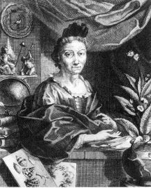 Maria Sybilla Merian, engraving from portrait by George Gsell