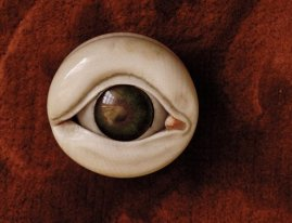 Ivory and glass eye, photo by Rosamond Wolff Purcell