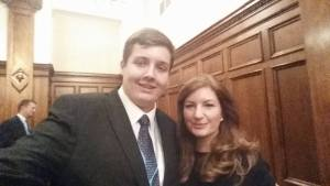Eliot Smith and Karen Brady
