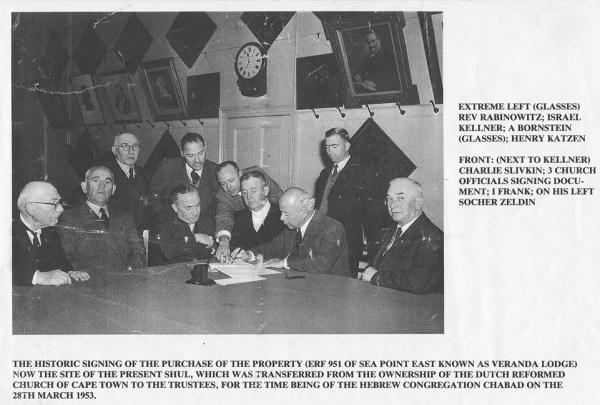 Chabad signing 1953