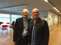 With Krzysztof Bielawski of Virtual Shtetl