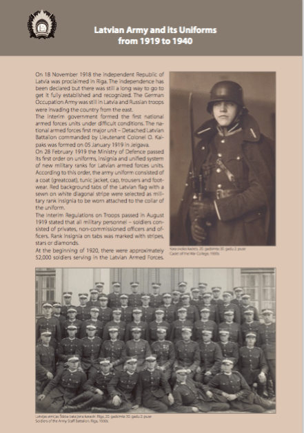 Latvian Army Uniform
