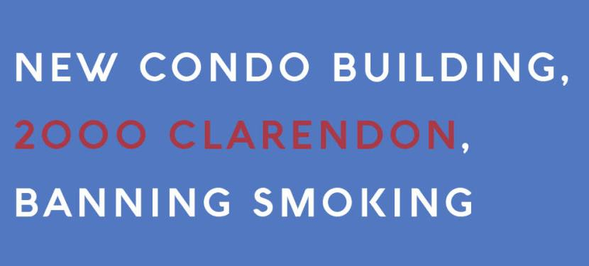 New Condo Building, 2000 Clarendon, Banning Smoking