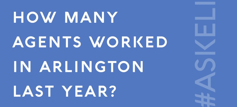 How Many Agents Worked in Arlington Last Year?