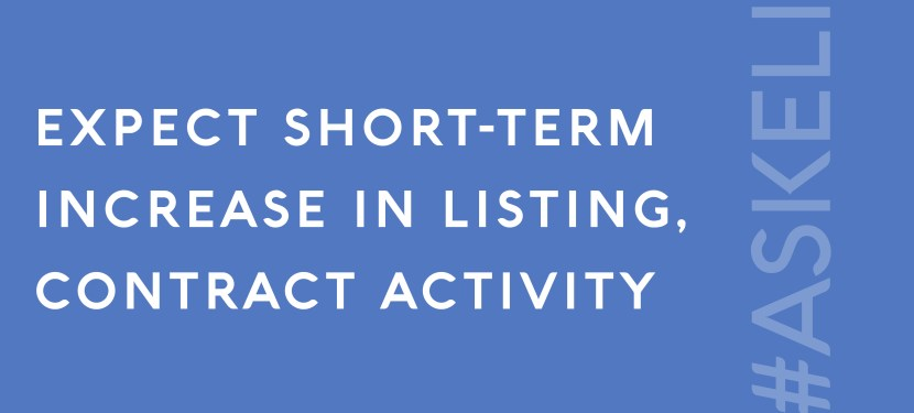 Expect Short-Term Increase in Listing, Contract Activity