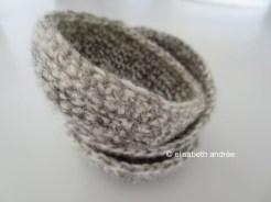 a small pile of crochet mini bowls
