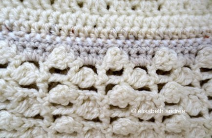 openwork with clusters stitch pattern