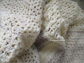 patchwork blanket close up