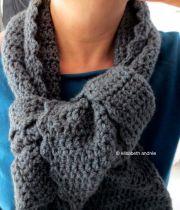gray scarf close up