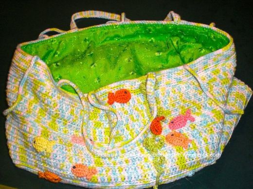 Storage bag with fishes