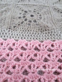 beige and pink blanket