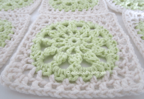 close up of another square variation
