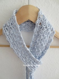 crochet lacy scarf open work with clusters