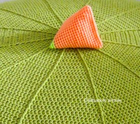 carrot pyramid on lettuce pouf