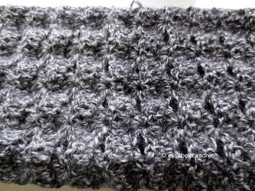 wip charcoal scarf crochet stitch pattern 2